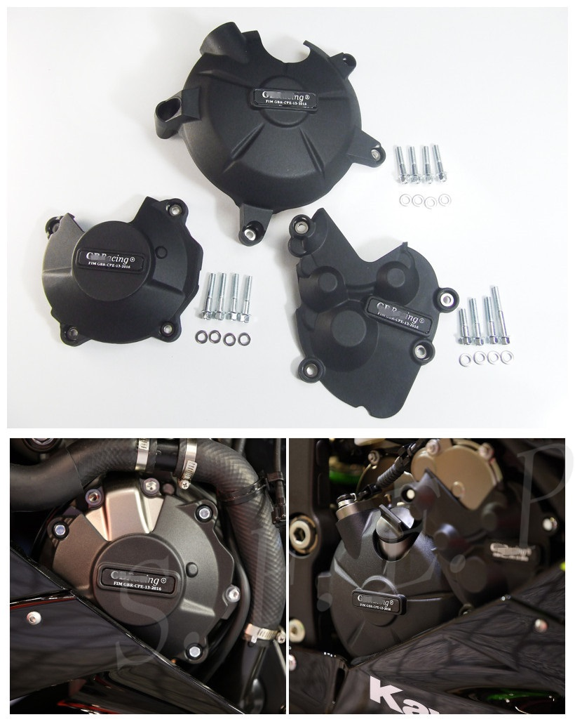 Motorcycle Engine Case Guard Protector Cover GB Racing For Kawasaki Ninja ZX6R ZX636 2013-2020 14 15 16 2017 2018 2019