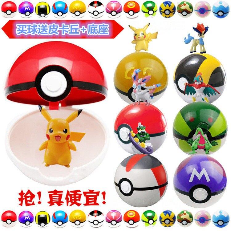 Children's Fun Squeeze Toy Cosplay Pikachu Squirrel Pokemon Magic Spring Ball Charizard Charmander Figure Christmas Digital Toy