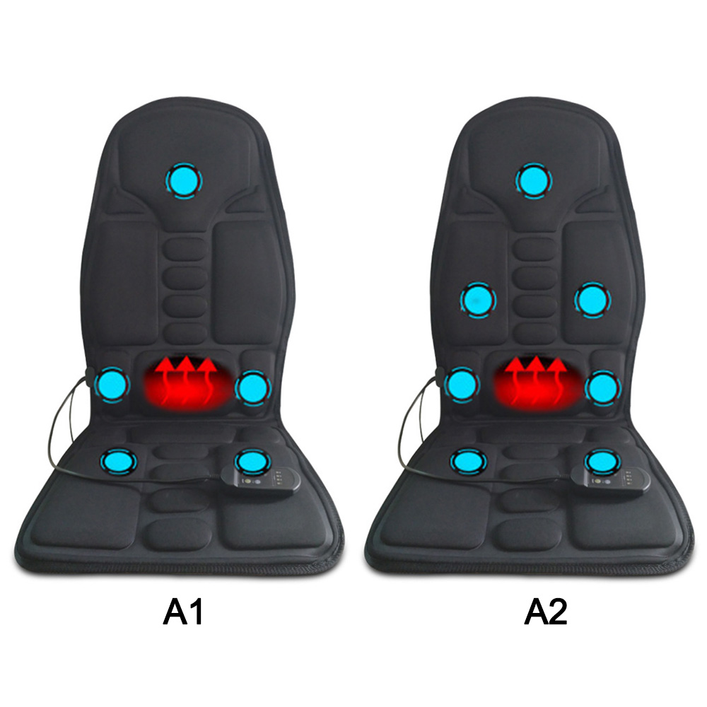 Car Interior Electric Back Heated Massage Seat Cushion Home Car Seat Chair Massager Lumbar Back Neck Pad Relaxation Seat Cover