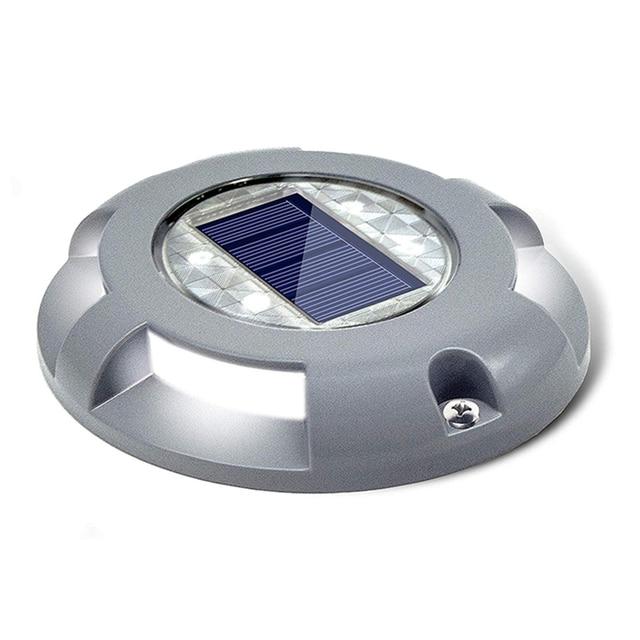Уличный водонепроницаемый фонарь на солнечной батарее, садовый наземный светильник для безопасности, для ступенек, тротуаров, лестниц, садовых наземных дорожек, Прямая поставка