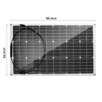 18V Solar Panel 300W/150W Semi-flexible Monocrystalline Solar Cell DIY Cable Waterproof Outdoor Connector Battery Charger 2