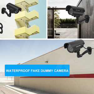 Image 5 - מזויף Dummy מצלמה Bullet Waterproof חיצוני מקורה אבטחת CCTV מעקב מצלמה מהבהב אדום LED משלוח חינם