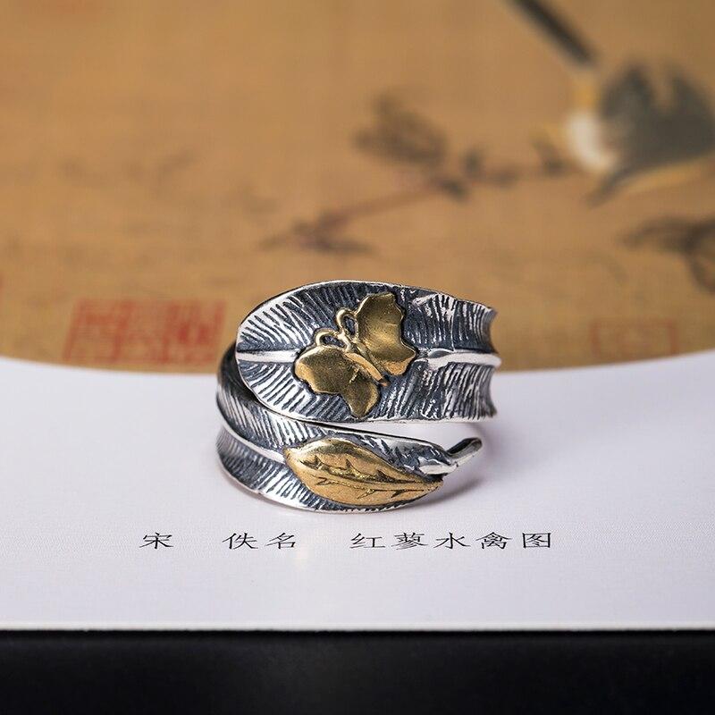 Женское кольцо с бабочкой VLA, серебро 925 пробы, регулируемый размер