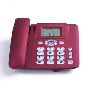 Image 3 - Wired Landline Phone with Speaker, R Key, Button Light, Adjustable Font Brightness, Dual Port Corded Telephone for Home Office