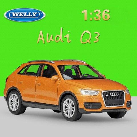 welly 1 36 real vida metal modelo carro de brinquedo audi q3 suv classico liga