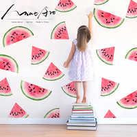 Melancia adesivo decoração do quarto crianças Aquarela muraux adesivos de parede para quartos de crianças diy quarto arte acessórios de decoração da cozinha