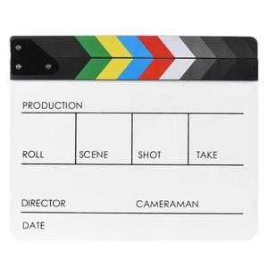 Image 3 - אקריליק צבעוני Clapperboard קלאפר לוח יבש למחוק מנהל לחתוך טלוויזיה סרט סרט פעולה צפחת Clap בעבודת יד לחתוך אבזר