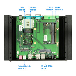 Image 5 - Fanless תעשייתי מיני מחשב Intel Core i5 7200U 8250U i7 7500U RS232/422/485 הכפול LAN HDMI VGA GPIO WiFi 4G LTE Windows לינוקס
