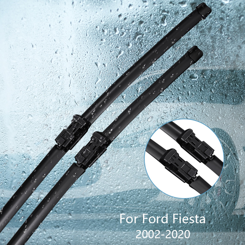 Wipers Blade For <font><b>Ford</b></font> <font><b>Fiesta</b></font> 2002 <font><b>2003</b></font> 2004 2005 2006 2007 2008 2009-2020 Car <font><b>Accessories</b></font> For Auto Rubber Windscreen Wiper image