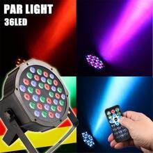 36led плоский par свет 36 Вт rgb цветное освещение стробоскоп