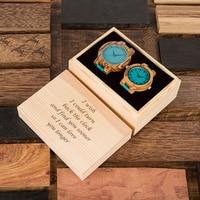 Relojes de madera hombre mujer para regalo parejas caja personalizada