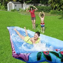 6M Super Long Single Water Slide Lawn Summer Water Games Supplies Outdoor Backyard Water Park Spray Water Slide Wave Rider