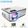 CRENOVA 2019 Nieuwste Android Projector 1280*720P Ondersteuning 4K Video 'S Via HDMI Home Cinema Movie Video Projector
