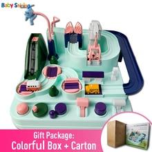 Детская блестящая обучающая игрушка на железной дороге, экологически чистая детская игрушка для приключений, Игрушечный трек, автомобиль, макарон, цветные настольные игры, игрушки-головоломки для мальчиков и девочек