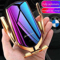 Automatic Clamping 10W Car Wireless Charger For iPhone Huawei Samsung Infrared Induction Qi Wireless Charger Car Phone Holder|Wireless Chargers| |  -