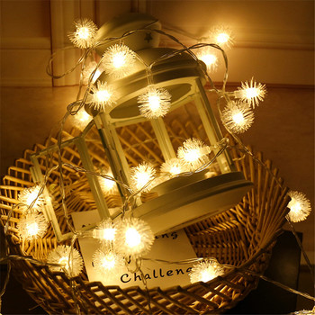 AC220V/110V LED Snow ball String Lights 10M Christmas Ball lights Fairy Xmas New Year Holiday Party Decors Lighting