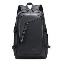Vintage 15.6 Leather Backpack Laptop Mens Black Bagpack School Bags Back Packs Travelling Bags For Men Leather Mochila Rucksack