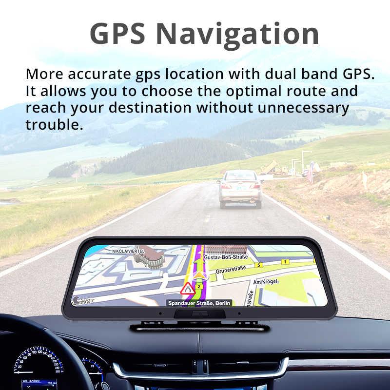 """Bluavido 10 """"Streaming 4G Thông Minh ADAS Dash Cam Android GPS Định Vị SIÊU NHỎ FHD 1080P Xe Video Camera kép từ Xa Wifi giám sát Trực Tiếp"""