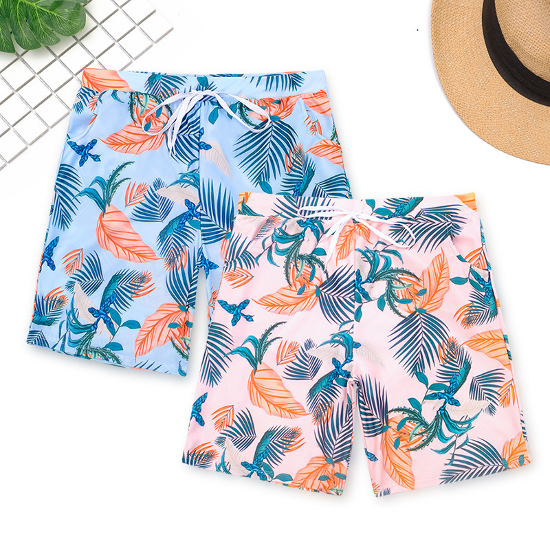 Fashion New Style MEN'S Beach Pants Boxer Short Fashion Man Young Handsome Beach Spa Resort Swimming Trunks Oversized