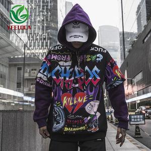 Image 4 - Sudadera con grafiti para hombre, ropa informal de Hip Hop, moda urbana, Top de gran tamaño, 2019