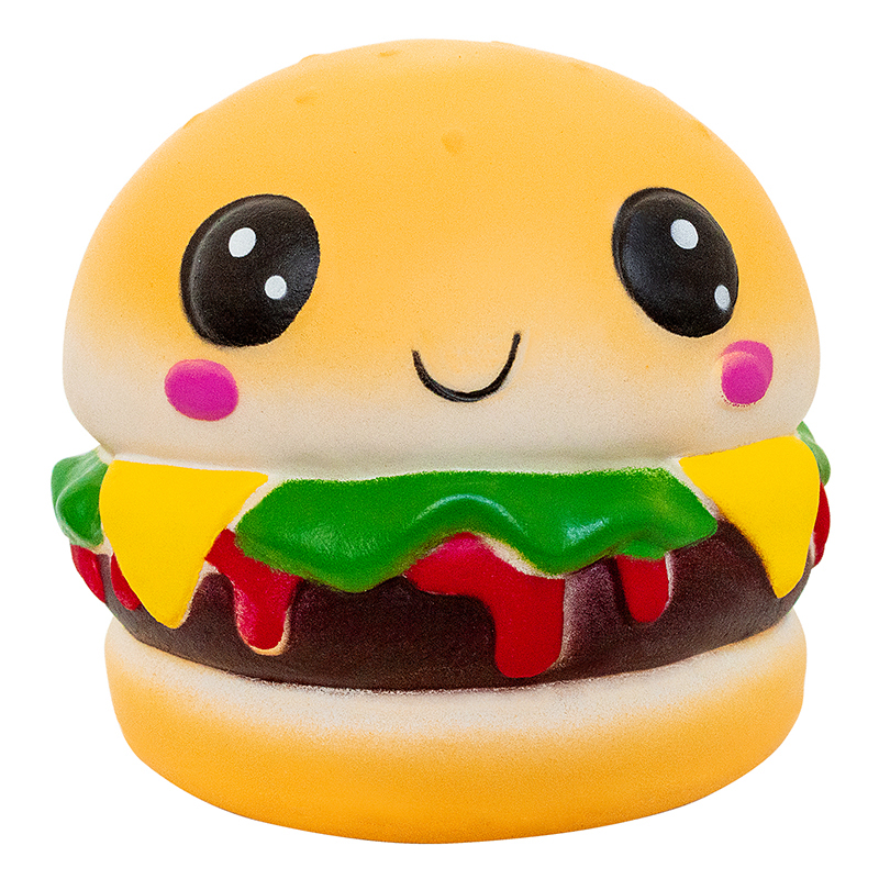 Squishy Soft Hamburger Squishies Toy Slow Rising Squeeze Toys Scented Stress Reliever Toy Novelty Antistress Christma Gift