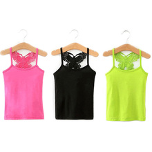 Model-Tops Clothing Vest Underwear Teenager Girls Baby Kids Summer Camisole for Candy-Color