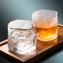 Taza de cristal con forma de Origami, vaso de cristal transparente para whisky, licor creativo para el hogar, vino, cerveza, vidrio de cóctel
