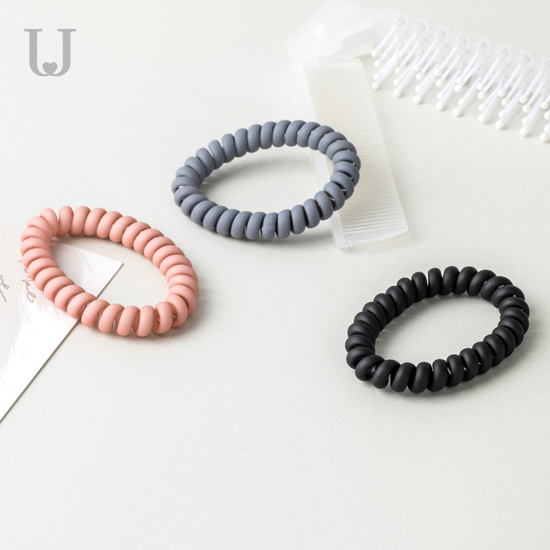 Youpin Phone Line Hair Ring Matte Matte Female No Trace Simple Headdress Tie Hair Rubber Band