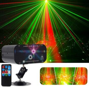 WUZSTAR 48 Muster Disco licht Laser Bühne lampe Partei DJ Lichter ball KTV Projektor Beleuchtung Wirkung für Bar Club Hochzeit sound