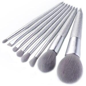 Image 2 - Jessup escova de maquiagem beleza brilhante festa kits compõem escovas pó blush mistura contorno sombra lápis