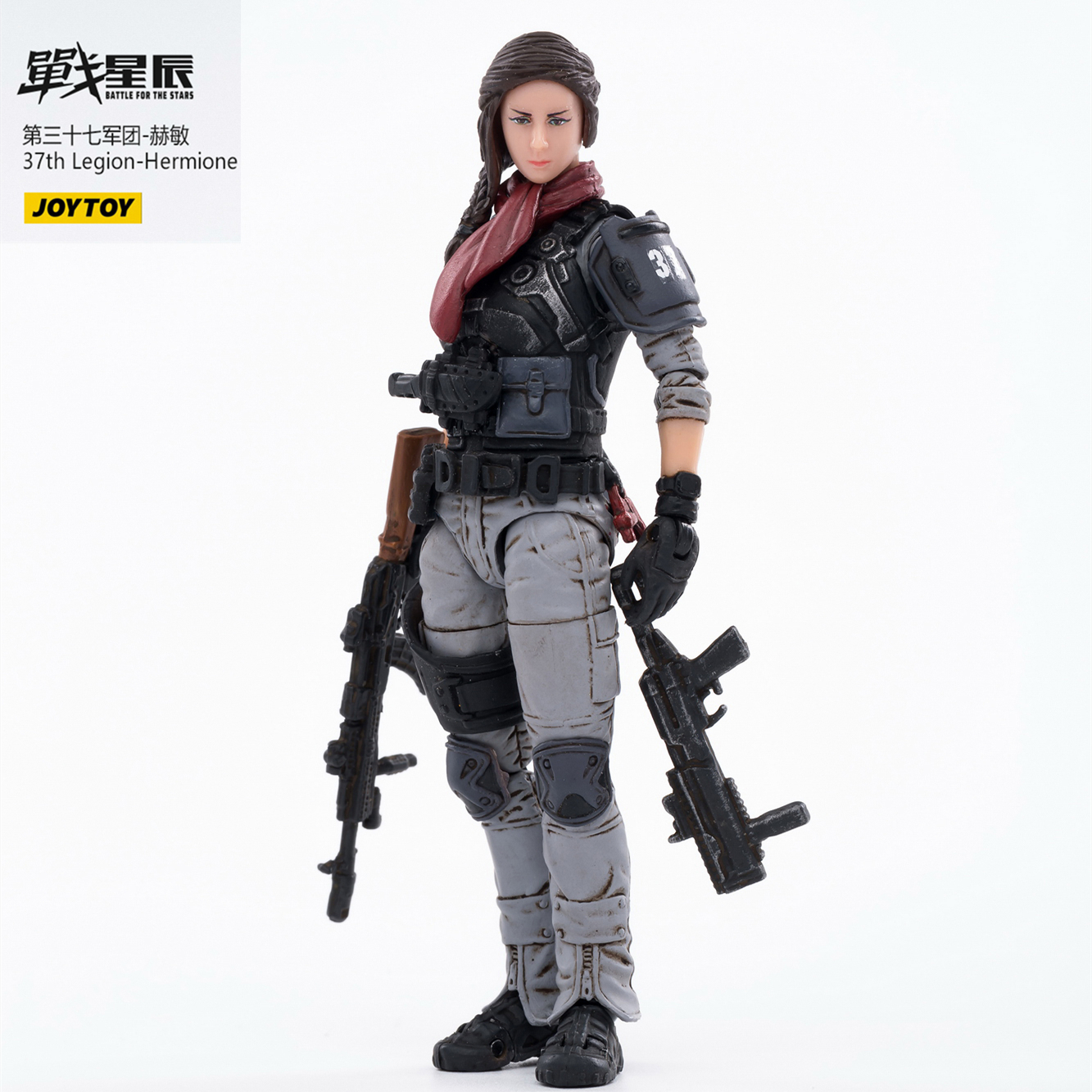 IN -STOCK  JOYTOY 1/18 PVC 10.5CM Action Figure Anime Female Soldier 37th Legion-Hermione And 04th Stina Free Shipping