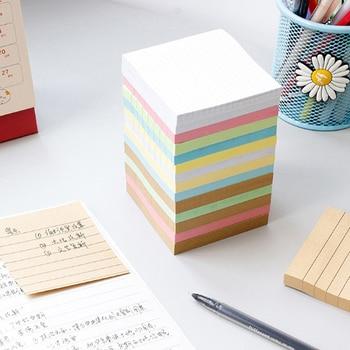 Blank Horizontal Grid Memo Pads Scrapbook School Supplies Post Sticky Notes