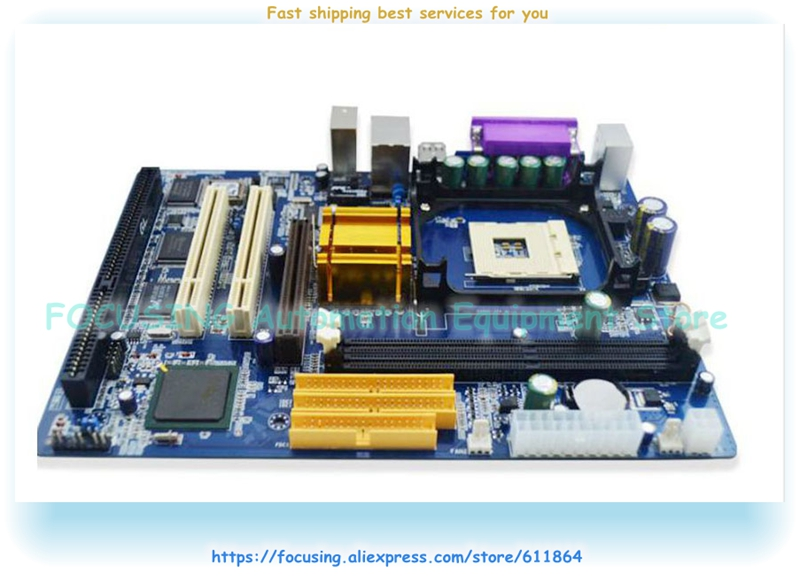 New 845GV motherboard with 478PIN 845 1 * ISA slot 1 * COM with driver CD