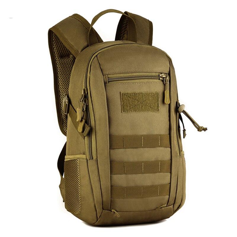 Homme 12 litres Ultra-petit Mini sac à dos extérieur voyage sac à dos cartables armée ventilateur sac Camouflage sac de sport