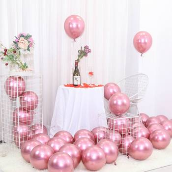 25pcs Rose Gold Metal Balloon Happy Birthday Party Decoration Kids Boy Girl Adults Wedding Birthday Ballon Bride To Be Baloon 2