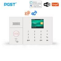 PGST 3G 4G Wireless Home Alarm Tuya Smart Leben Einbrecher Alarm Kits WiFi Sicherheit Alarm System Unterstützung Alexa fernbedienung
