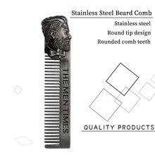 Paslanmaz çelik sakal tarağı, erkek sakal şekillendirme şablonu, tıraş tarağı, yüz şekillendirici bakım, sakal bakım ve kesme aletleri