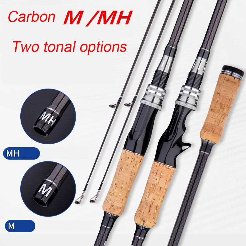 2 Sections Spinning Casting Fishing Rod Pesca Carbon Pole Canne Carp Fly Gear Reel Seat Feeder Ultralight Mini Travel Surf 1.8M