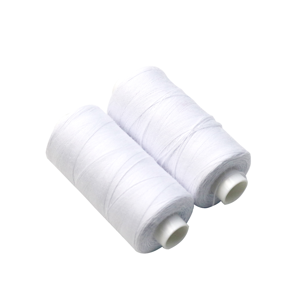 New High Quality 1 X White 1 x Black 200m Each Sewing Cotton Thread Hand//Machine