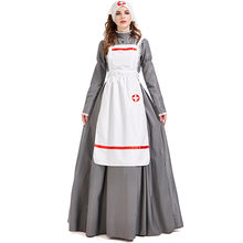 Umorden tarihi İç savaş victoria hemşire kostümü üniforma bayan lamba ile Cosplay Purim cadılar bayramı Fantasia giyinmek
