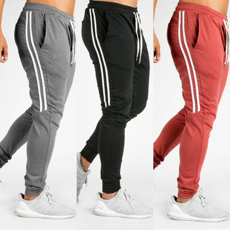 Goocheer New Men Hip Hop Sweatpants Fitness Joggers Spring Male Side Stripe High Street Hip Long Trousers Harem Pants Sweatpant