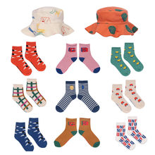 Calcetines deportivos cortos e informales para niños, algodón peinado, novedad, 2021SS, BC