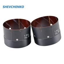 Shevchenko 75.5mm woofer bobina de voz fibra de vidro fio cobre reparação 75 núcleo baixo alto-falante acessórios 500 w-680 w 2 pces