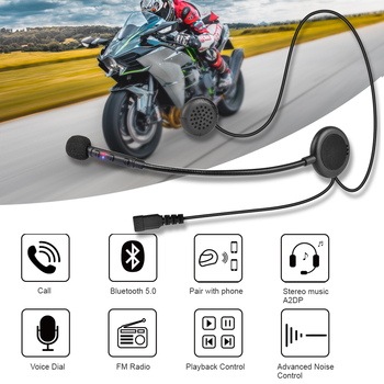 Fodsports F1 motorcycle helmet headset moto stereo wireless bluetooth headphone BT 5.0 with FM music A2DP speaker