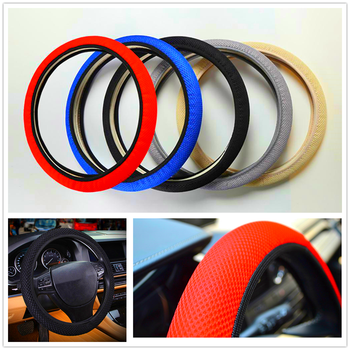 car auto Steering wheel Cover Anti-Slip net styling Auto for Jeep Renegade Cherokee Wrangler Compass Patriot Santafe i20 i30 image
