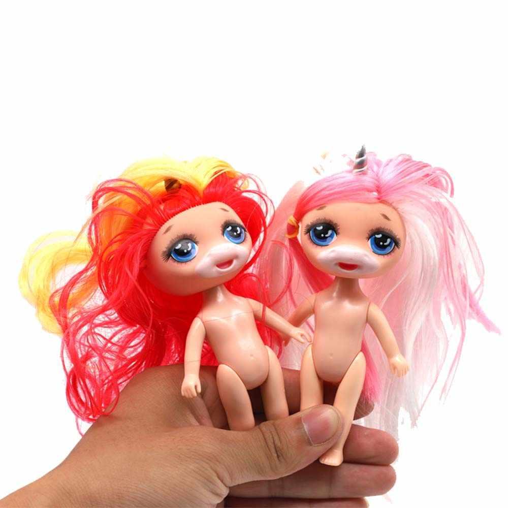 Beleza unicórnio poopsie lodo bonecas com acessórios para o cabelo figura de ação brinquedo crianças surpresa lols bonecas para crianças meninas presente brinquedos