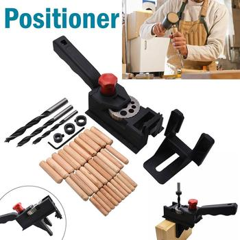 цена на 38Pcs/set Wood Drill Guide Dowel Straight Hole Drilling Guide Woodworking Carpentry Positioner Locator Tool Drill Guide Kit