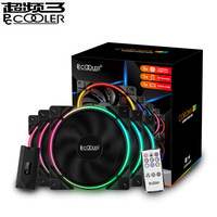 Pcooler 5/Pack 120m RGB Fan 12V&5V FRGB 4pin PWM Quiet Addressable Fans 12cm Computer Cooling Fan For CPU Cooler Liquid Cooling