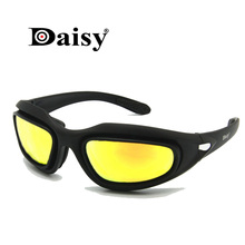 Polarized Army Goggles Military Sunglasses 4 Lens Kit Men's Desert Storm War Game Tactical Glasses Sporting Daisy C5 saiyu c5 army goggles desert storm 4 lens outdoor sports hunting sunglasses anti uva uvb x7 polarized war game motorcycle glasse