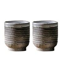 Japanese Tea Cup Ceramic Pottery Tea Bowl 50ml Handmade Teacup Vintage Pu Er Cups Teaware Coffee Mug Drinkware Container Decor